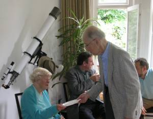 Prof. Robert and Betty Weale by Simon's Telescope