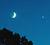 [The crescent Moon, Jupiter & Venus]