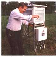 Philip Eden at the HSS Meteorological Station